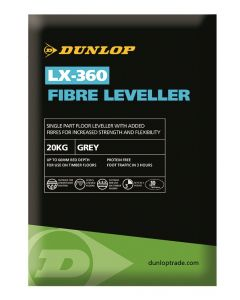 DUNLOP 20KG LX-360 FIBRE FLOOR LEVELLING COUMPOUND (3MM - 60MM DEPTH)