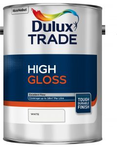 Dulux Trade High Gloss Paint 5L White