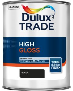 DULUX TRADE GLOSS BLACK 1LTR