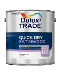 DULUX TRADE Q/D SATINWOOD BRILLIANT WHITE 5LTR