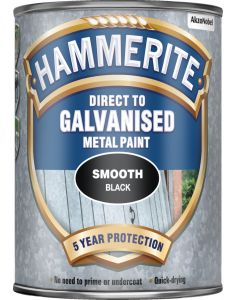 HAMMERITE GALVANISED METAL PAINT SMOOTH BLACK 750ML