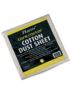 HARRIS COTTON DUST SHEET 12'X9' 309 POLYTHENE BACKED