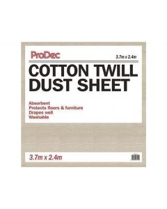PRODEC COTTON TWIL DUST SHEET 12'X 8'   CNTW128
