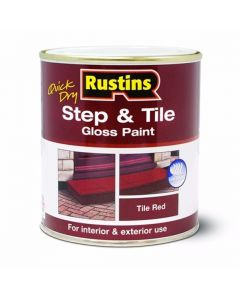 RUSTINS STEP AND TILE PAINT GLOSS RED 1LTR