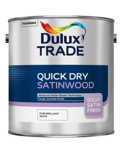 DULUX TRADE Q/D SATINWOOD LIGHT BASE COLOUR MIX 1LT