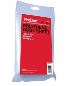 POLYTHENE DUST SHEET 12' X 12'   PDPY002