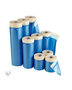 INDASA POLYTHENE DUST SHEET WITH MASKING TAPE 12OOMM X 25MT