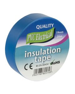 INSULATING TAPE 19MM X 20M BLUE