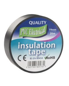 INSULATING TAPE 19MM X 20M BLACK FAITAPEPVCBK