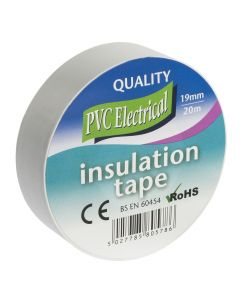 INSULATING TAPE 19MM X 20M WHITE