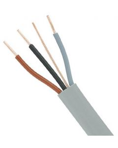 CABLE THREE CORE AND EARTH GREY 1.5MM 100MTR
