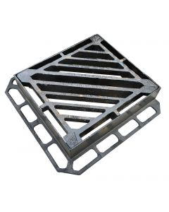 Double Tri Gully Grating & Frame, 1138cm2 Waterway