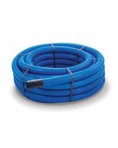 50MTR COIL 100MM PERFORATED LAND DRAIN BLUE
