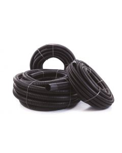 TWIN WALL DUCT BLACK 63/50mm 50M COIL INC COUP (RIDGICOIL)