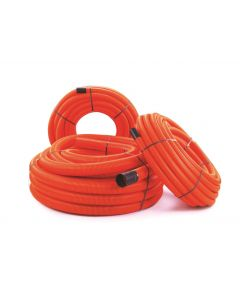 TWIN WALL DUCT ORANGE 110/94mm T/S  50m COIL (RIDGICOIL)