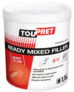 TOUPRET READY MIXED FILLER RED TUB  1.5KG INT