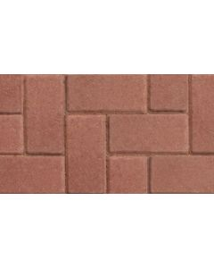 MARSHALLS BLOCK PAVING 200x100x50mm RED CBP PACK 488 G1949