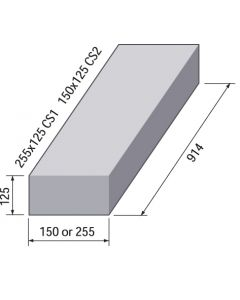 SQUARE CHANNEL STRAIGHT 255x125 CS1 914MM LONG