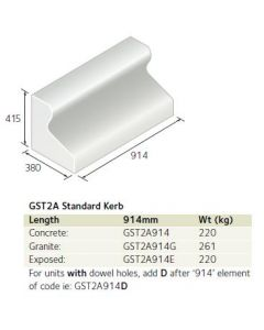 TRIEF GST2A 914MM LONG STANDARD KERB