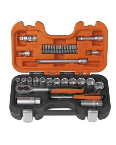 Bahco S330 Socket Set of 34 Metric 1/4in & 3/8in Drive