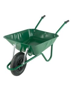 WHEEL BARROW GREEN 90LTR PUNCTURE FREE