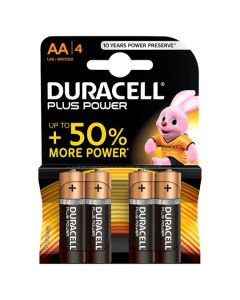 DURACELL PLUS AA BATTERIES (PK4)