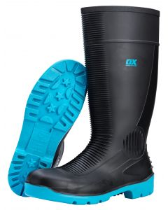 OX SAFETY WELLINGTON BOOTS STEEL TOE (SIZE 10)