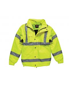 YELLOW HI-VIS BOMBER JACKET SIZE MEDIUM HJ44M