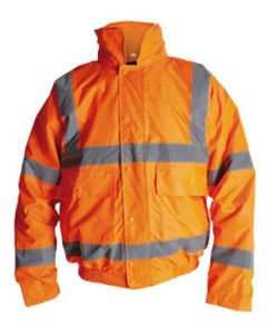 ORANGE HI-VIS BOMBER JACKET X\LARGE HV110R