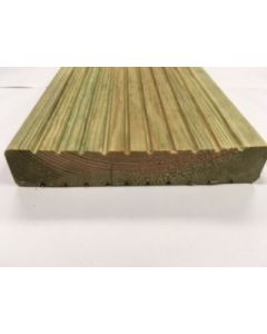 MTRS SOFTWOOD DECKING SMOOTH 1 SIDE 32 X 150MM (28X144MM FIN) 70% PEFC CERTIFIED CU-PEFC-839723