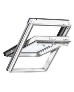 VELUX ROOF WINDOW W1140 X H1180MM WHITE PAINTED CENTRE PIVOT