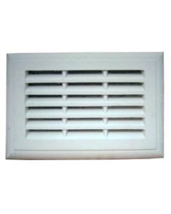 PLASTER LOUVRE VENT WITH FLYSCREEN 9 X 9