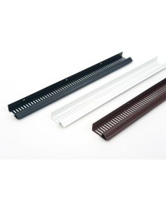 SOFFIT STRIP VENT BLACK 2.4M X 10MM