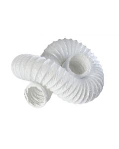 100MM FLEXIBLE PVC ROUND DUCTING 15MTR (10415)