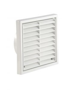 100MM WALL OUTLET VENT LOUVRED GRILLE WHITE R41051